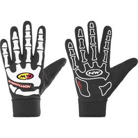 Northwave Skeleton W-Gel Pełne rękawice Mężczyźni, black/white